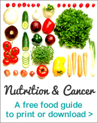 Nutrition and Cancer – a free downloadable food guide